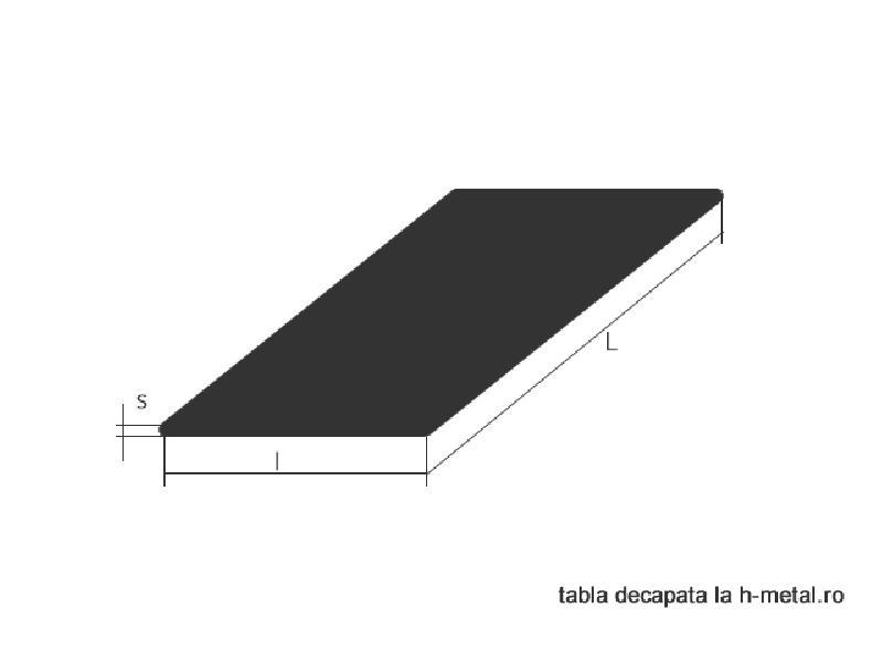 Tabla striata aluminiu 2.5/4 x 1000 x 2000 mm 1